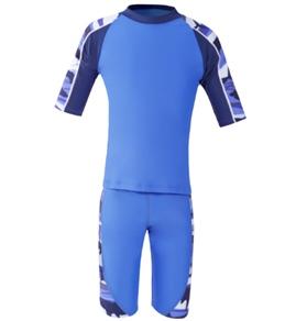 Tuga  Boys' Breaker S/S Rashguard w/Jammer Shorts Set