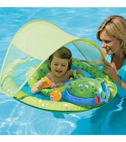 SwimWays Baby Spring Float Activity Center w/ Canopy