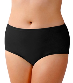 Sunsets Solid Plus Size High Waist Bottom