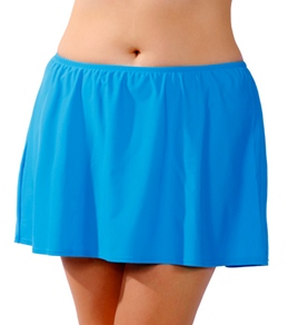 Sunsets Solid Plus Size Skirted Bottom