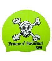 1Line Sports Beware Of Swimmer Silicone Cap