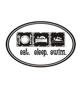 1Line Sports Eat Sleep Swim Magnet