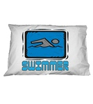 1Line Sports Blue Swimmer Pillow Case