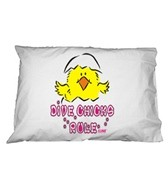 1Line Sports Dive Chicks Rule Pillow Case