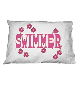 1Line Sports Flower Swimmer Pillow Case