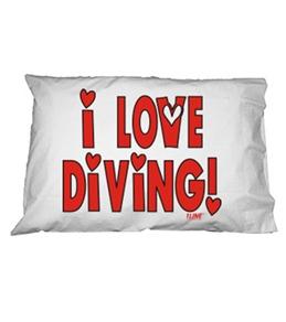 1Line Sports Love Diving Pillow Case