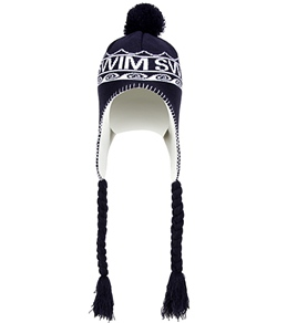 1Line Sports Swim Beanie with Tassels