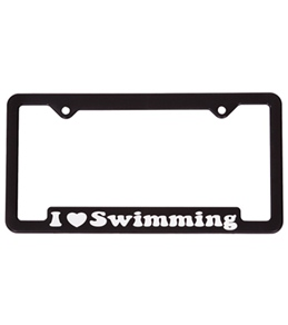 Bay Six I Love Swimming License Plate