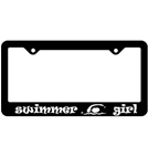 Bay Six Swimmer Girl License Plate Frame