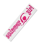 Bay Six Swimmer Girl Bumper Sticker