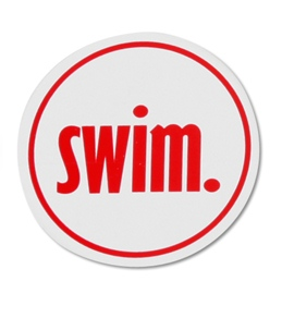 Bay Six Swim Round Decal