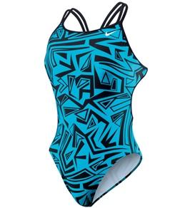Nike Swim Angled Lanes Spider Back Tank