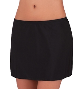 Sunsets Solid Swim Skirt Bottom