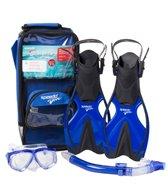 Speedo Junior Adventure Mask, Snorkel and Fin Set