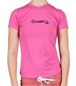 O'Neill Girls' Basic Skins S/S Surf Shirt