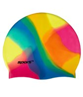 Sporti Multi Color Silicone Swim Cap