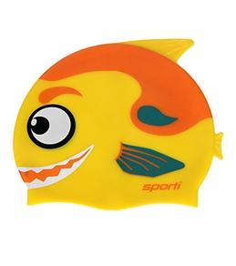 Sporti Cartoon Piranha Silicone Swim Cap Jr.