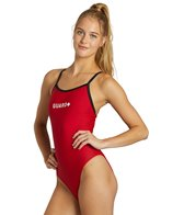 Sporti Guard Piped Thin Strap Swimsuit
