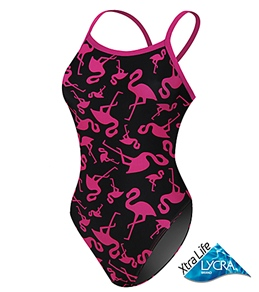 Sporti Flamingo Thin Strap Swimsuit