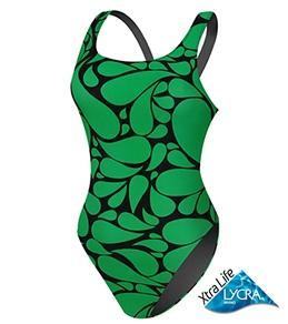 Sporti Mosaic Tear Drop Wide Strap Swimsuit