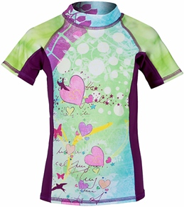 Girls4Sport Toddler Fairy Garden Short Sleeve Rashguard