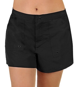 Maxine Solid Woven Boardshorts