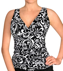 Longitude Baroque Cami Tankini Top