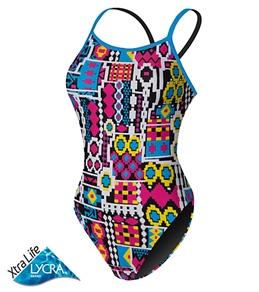 Sporti Native Neon Thin Strap Swimsuit