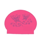Bettertimes Butterfly Solid Latex Swim Cap