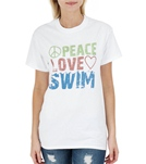 1Line Sports Peace Love Swim T-Shirt