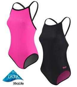 Sporti Neon Reversible Thin Strap Swimsuit