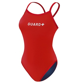 Sporti Guard Reversible Solid Thin Strap Swimsuit