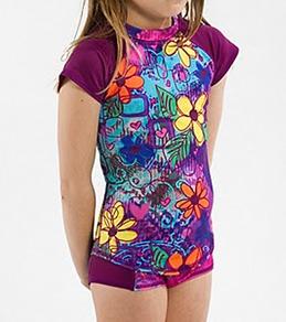 Girls4Sport Youth Mary Jane Cap Sleeve Rashguard