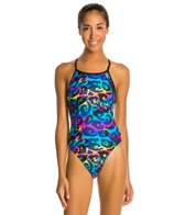 Illusions Camo Glow Thin Strap Swimsuit