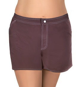 Beach House Solid Plus Size Boardshorts