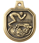 1.5 Swimming Male Die Cast Medal