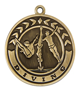 "2"" Diving Die Cast Medal"