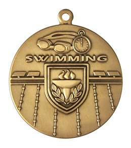 "1.75"" Swimming Die Struck Medal"
