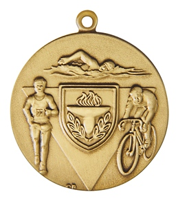 "1.75"" Triathlon Die Struck Medal"