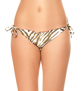 VIX Zebra Ripple Tie Side Brazilian Bottoms