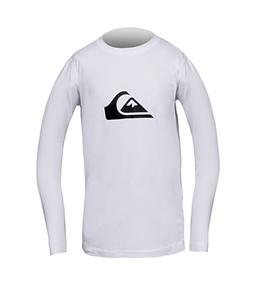 Quiksilver Boys' Solid Streak L/S Rash Shirt