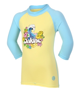 Dakine Toddler Girls' Wave 3/4 Sleeve Rashguard