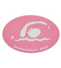 Bay Six Swimmer Girl Pink Decal