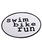 Bay Six Swim Bike Run Magnet