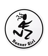 Bay Six Runner Girl Round Decal
