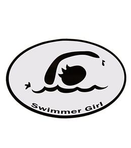 Bay Six Swimmer Girl Decal