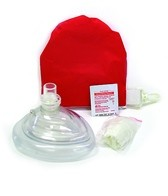 KEMP Lifeguard CPR Mask in Red Pouch