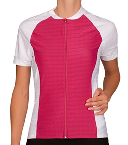 Sheila Moon Women's Meryl Lycra Short Sleeve Cycling Jersey