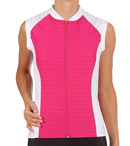 Sheila Moon Women's Meryl Lycra Sleeveless Cycling Jersey
