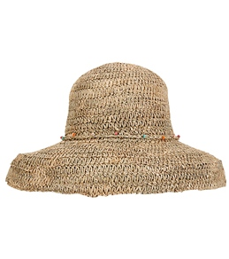 Sun N Sand Beaded Trim Straw Hat